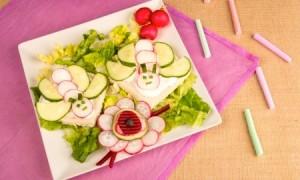 maak het bord mooi op en kinderen eten wel gezond