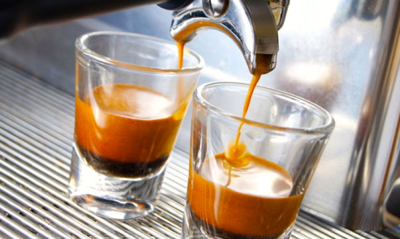 veel koffie afvallen