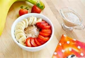 havermout met aardbeien als gezond ontbijt